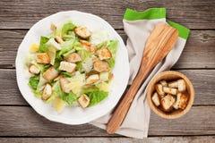 Fresh healthy caesar salad with chiken Stock Photo