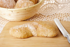 Fresh and healthy ciabatta bread Stock Image