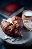 Fresh healthy croissant for breakfast Royalty Free Stock Photos