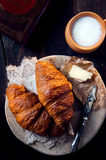 Fresh healthy croissant for breakfast Royalty Free Stock Photo