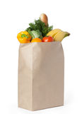 Fresh healthy food in a paper bag Royalty Free Stock Photos