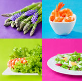 Fresh healthy food set Royalty Free Stock Photos