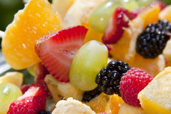 Fresh, Healthy Fruit Kebabs Stock Photos