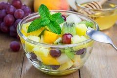 Fresh healthy fruit salad Stock Image