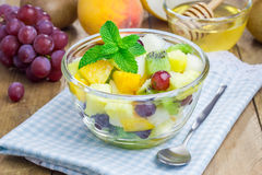 Fresh healthy fruit salad Stock Images
