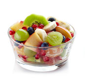 Fresh healthy fruit salad royalty free stock images