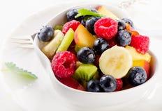 Fresh healthy fruit salad Stock Images