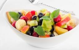 Fresh healthy fruit salad Stock Photos