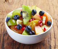 Fresh healthy fruit salad Royalty Free Stock Image