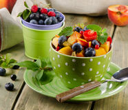 Fresh healthy fruit salad Stock Image