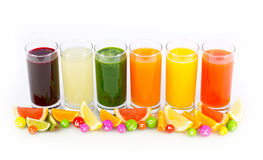 Fresh and healthy fruit and vegetable juices Royalty Free Stock Image