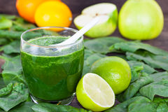 Fresh, healthy fruit and vegetable smoothie Stock Photos