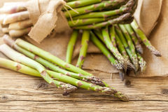 Fresh healthy green asparagus spears Royalty Free Stock Images
