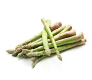 Fresh healthy green asparagus tips Stock Photo
