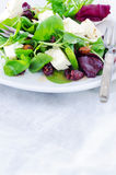 Fresh healthy green salad for lunch dinner Royalty Free Stock Image