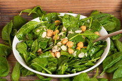 Fresh and healthy green salad Stock Photos