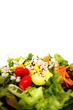 Fresh healthy green salad with sesame seeds Stock Photo