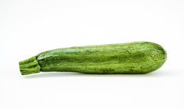 Fresh healthy green zucchini  on white background Royalty Free Stock Image