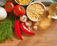 Fresh healthy ingredients. Stock Images