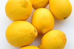 Spanish lemons background stock photography