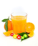 Fresh and healthy multivitamin juice Stock Photos