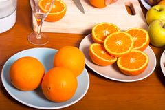 Fresh healthy oranges Stock Photography