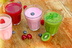 Fresh and healthy organic drinks Royalty Free Stock Photo