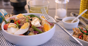 A fresh, healthy, organic nicoise salad Stock Photography