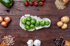 Fresh and healthy organic vegetables and food ingredients Royalty Free Stock Photo