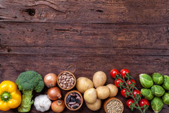 Fresh and healthy organic vegetables and food ingredients Stock Photo