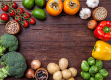 Fresh and healthy organic vegetables and food ingredients Stock Image