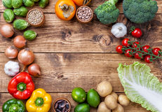 Fresh and healthy organic vegetables and food ingredients Royalty Free Stock Photography