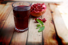 Fresh and healthy pomegranate Stock Images