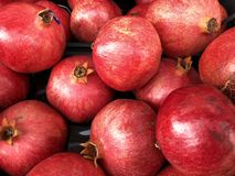Fresh, healthy pomegranates .... royalty free stock photos