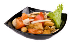 Fresh healthy salad over white Royalty Free Stock Images