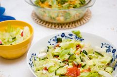 Fresh healthy salads Royalty Free Stock Photo