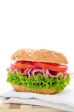 Fresh healthy sandwich Stock Photos