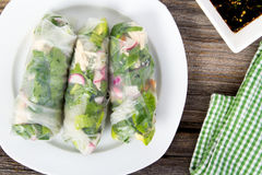 Fresh healthy spring roll wrap Royalty Free Stock Image