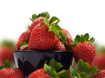 Fresh Healthy Strawberries On White Royalty Free Stock Photo