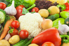 Fresh Healthy Vegetables /  Food Background Stock Photos