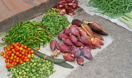 Fresh healthy vegetables at the market, Asia Stock Photo