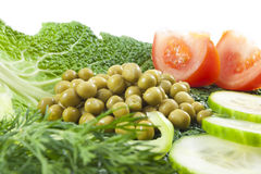 Fresh healthy vegetables  salad Royalty Free Stock Images