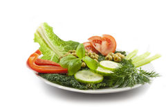 Fresh healthy vegetables  salad Royalty Free Stock Image