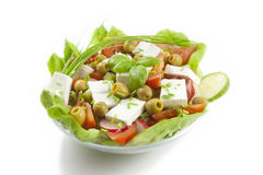 Fresh healthy vegetables salad with feta Stock Photo
