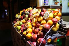 Fruit Juice Shop in Istanbul stock images