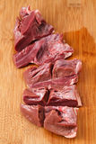 Fresh heart on  kitchen cutting board. Stock Photography