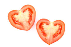 Fresh heart-shaped tomato Royalty Free Stock Image