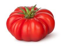 Fresh heirloom tomato. Isolated on white background stock photography