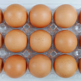 The fresh hen eggs Royalty Free Stock Images
