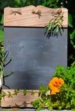 Fresh herb garden table Stock Photos
